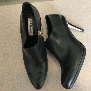 LK Bennett black leather ankle booties-Size 8 1/2
